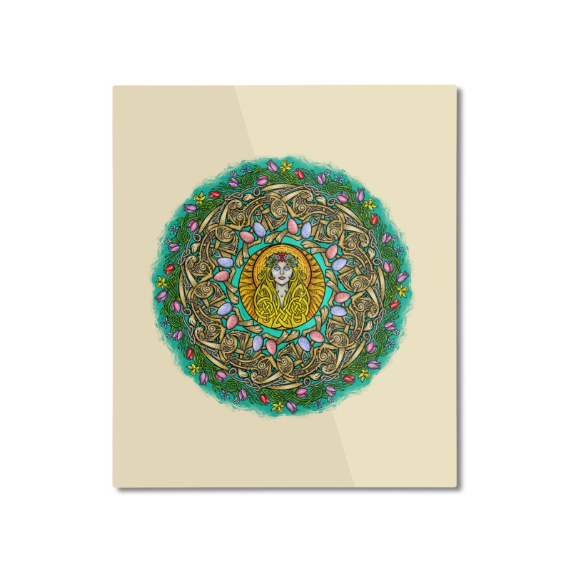 Ēostre Home Mounted Aluminum Print by Celtic Hammer Club
