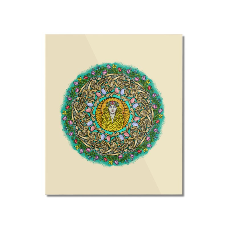 Ēostre Home Mounted Acrylic Print by Celtic Hammer Club