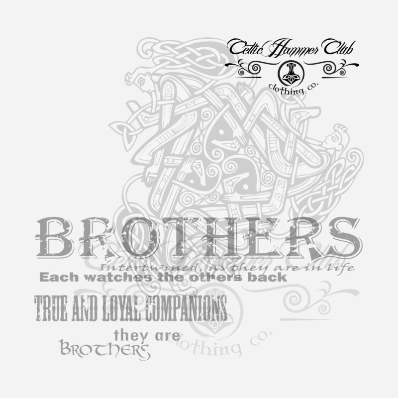 Brothers Graphic Tee Accessories Bag by Celtic Hammer Club