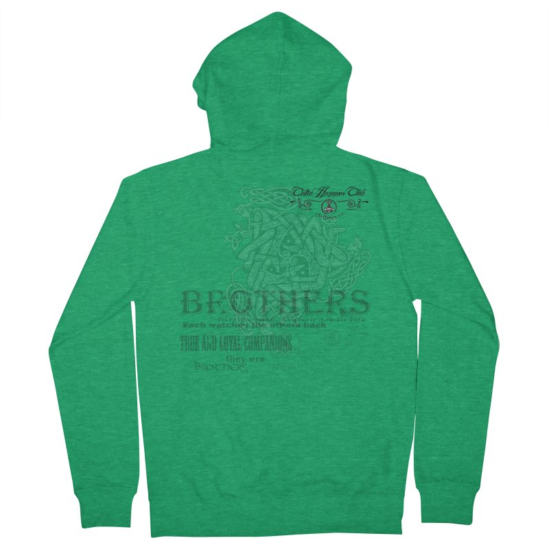Brothers Graphic Tee Men's Zip-Up Hoody by Celtic Hammer Club