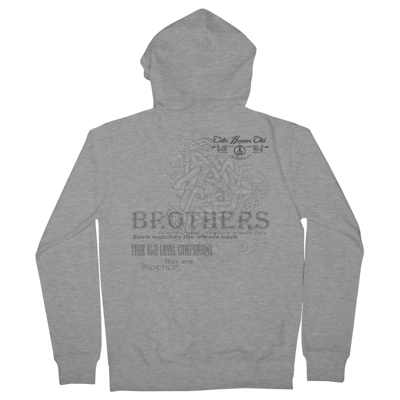 Brothers Graphic Tee Men's French Terry Zip-Up Hoody by Celtic Hammer Club
