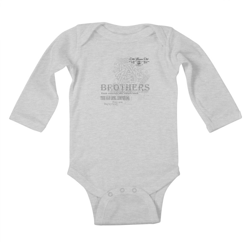 Brothers Graphic Tee Kids Baby Longsleeve Bodysuit by Celtic Hammer Club