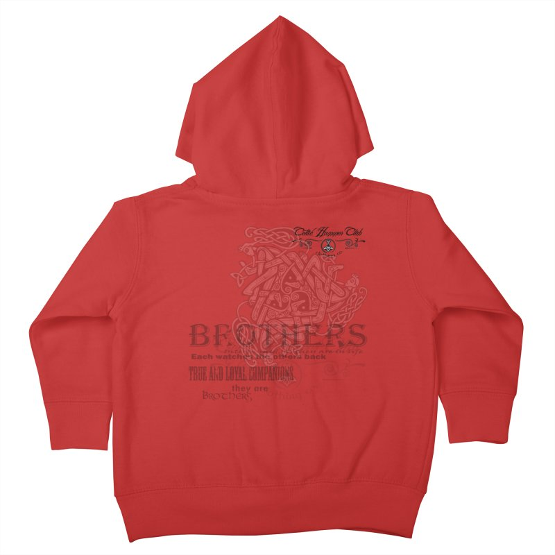Brothers Graphic Tee Kids Toddler Zip-Up Hoody by Celtic Hammer Club