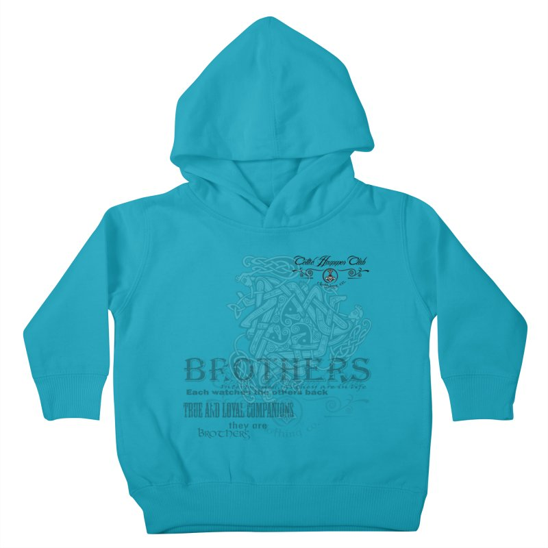 Brothers Graphic Tee Kids Toddler Pullover Hoody by Celtic Hammer Club