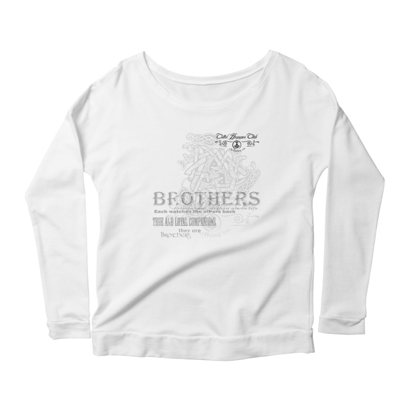Brothers Graphic Tee Women's Scoop Neck Longsleeve T-Shirt by Celtic Hammer Club