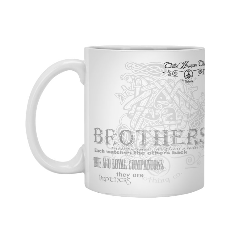 Brothers Graphic Tee Accessories Standard Mug by Celtic Hammer Club
