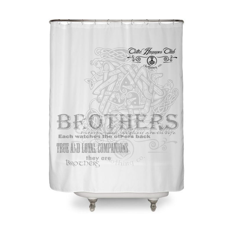 Brothers Graphic Tee Home Shower Curtain by Celtic Hammer Club