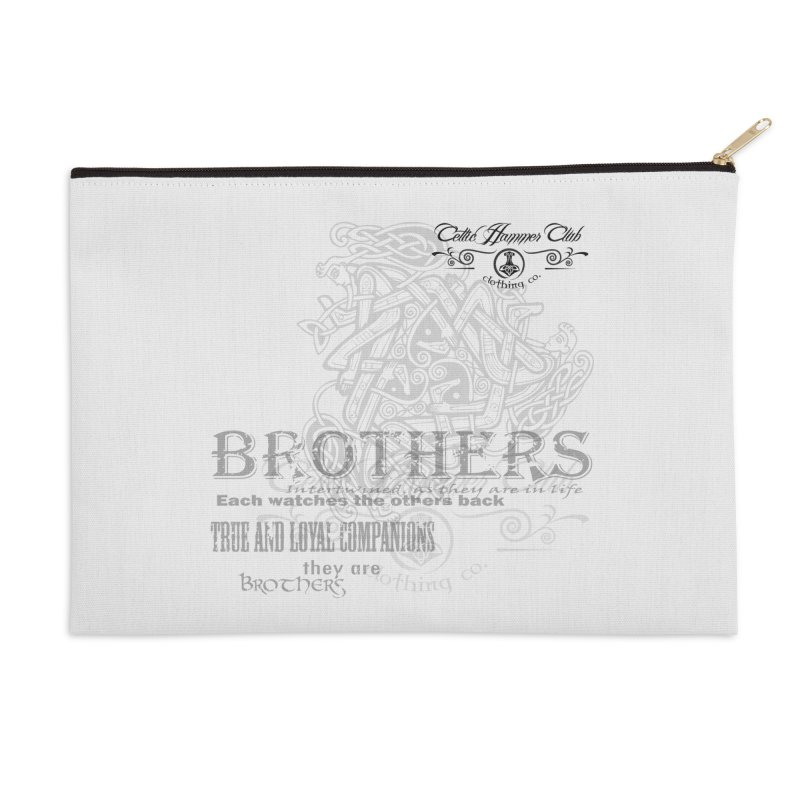 Brothers Graphic Tee Accessories Zip Pouch by Celtic Hammer Club