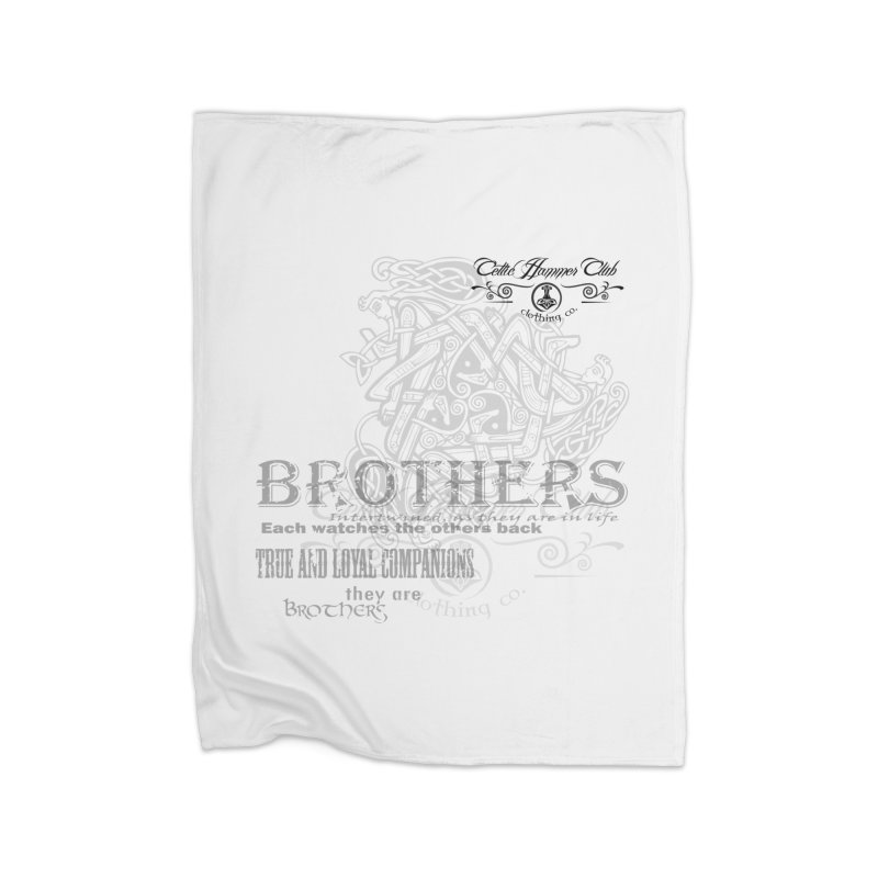 Brothers Graphic Tee Home Fleece Blanket Blanket by Celtic Hammer Club