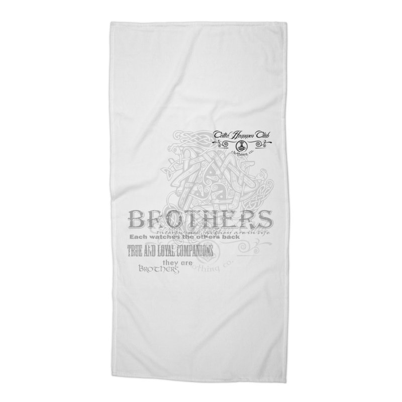 Brothers Graphic Tee Accessories Beach Towel by Celtic Hammer Club