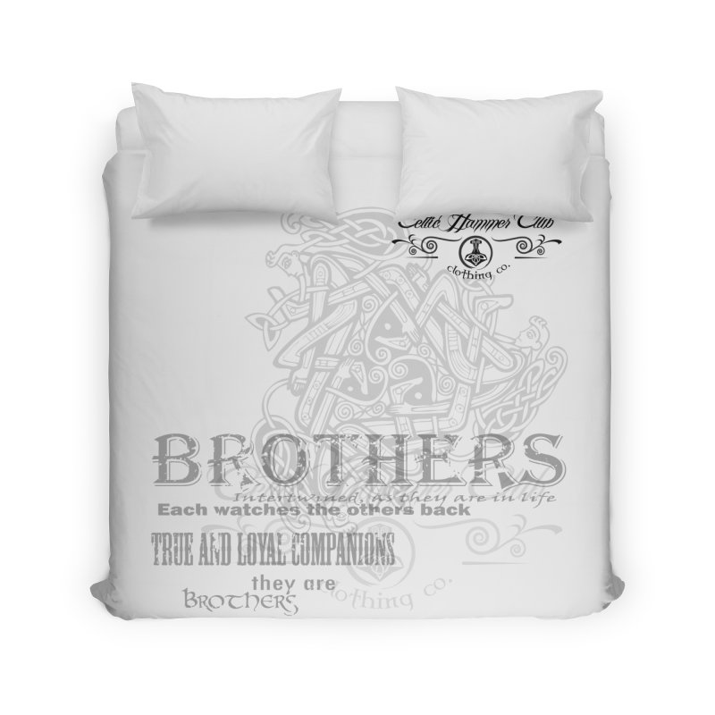 Brothers Graphic Tee Home Duvet by Celtic Hammer Club