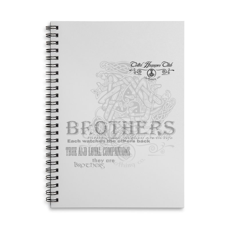 Brothers Graphic Tee Accessories Lined Spiral Notebook by Celtic Hammer Club