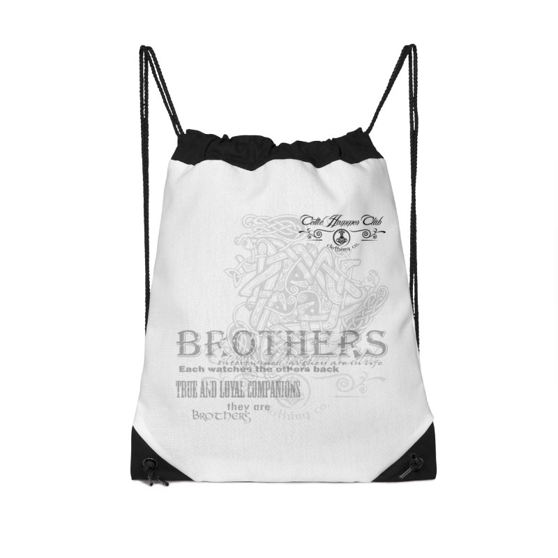 Brothers Graphic Tee Accessories Drawstring Bag Bag by Celtic Hammer Club