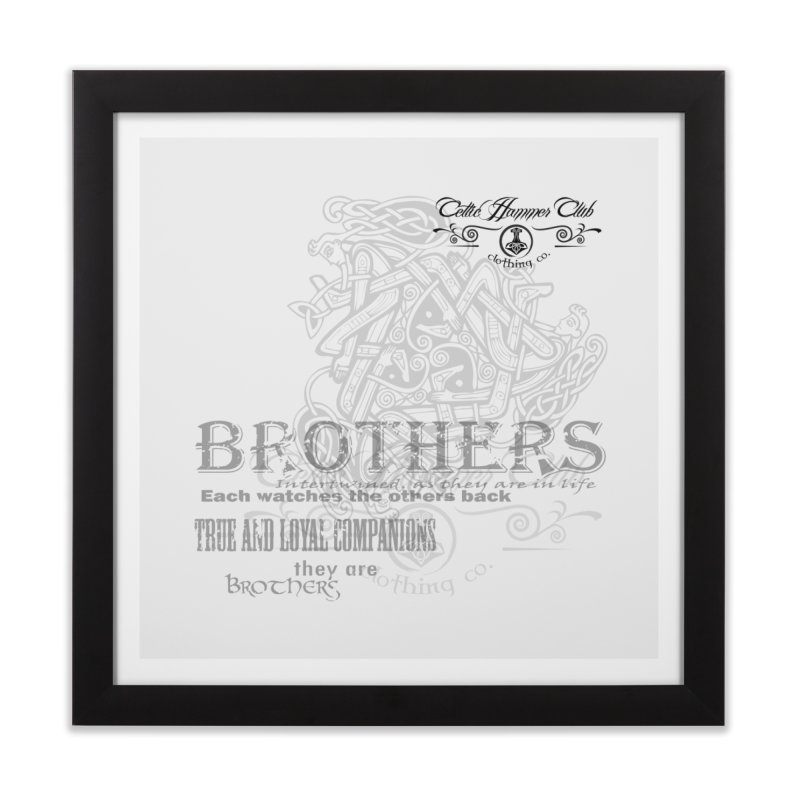 Brothers Graphic Tee Home Framed Fine Art Print by Celtic Hammer Club