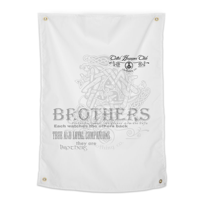 Brothers Graphic Tee Home Tapestry by Celtic Hammer Club