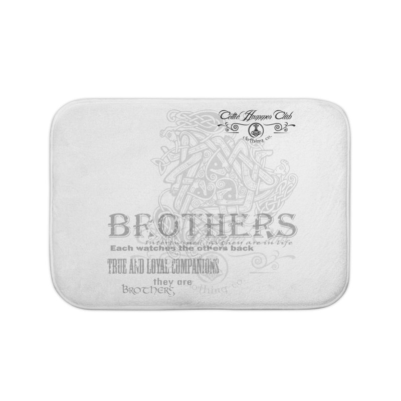 Brothers Graphic Tee Home Bath Mat by Celtic Hammer Club