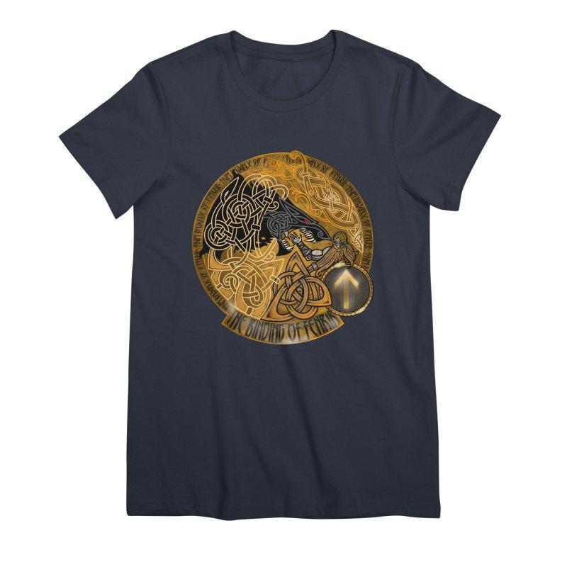 The Binding of Fenrir Women's Premium T-Shirt by Celtic Hammer Club