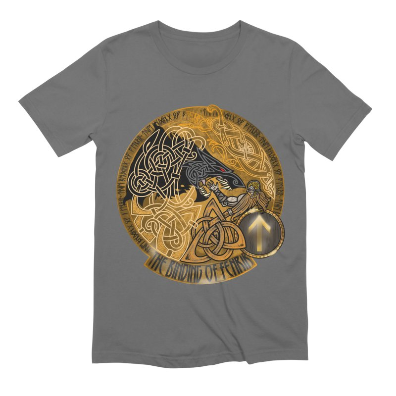 The Binding of Fenrir Men's Extra Soft T-Shirt by Celtic Hammer Club