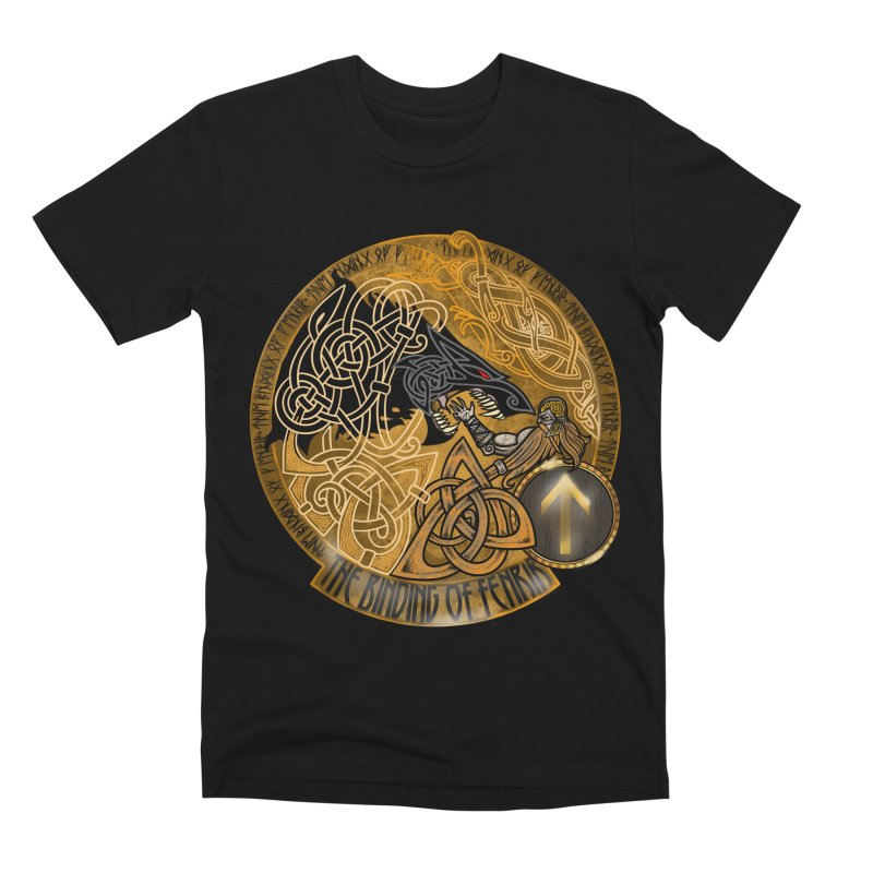 The Binding of Fenrir Men's Premium T-Shirt by Celtic Hammer Club