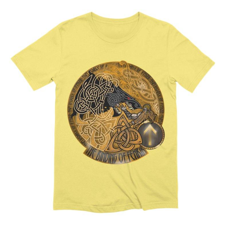The Binding of Fenrir Men's Extra Soft T-Shirt by Celtic Hammer Club