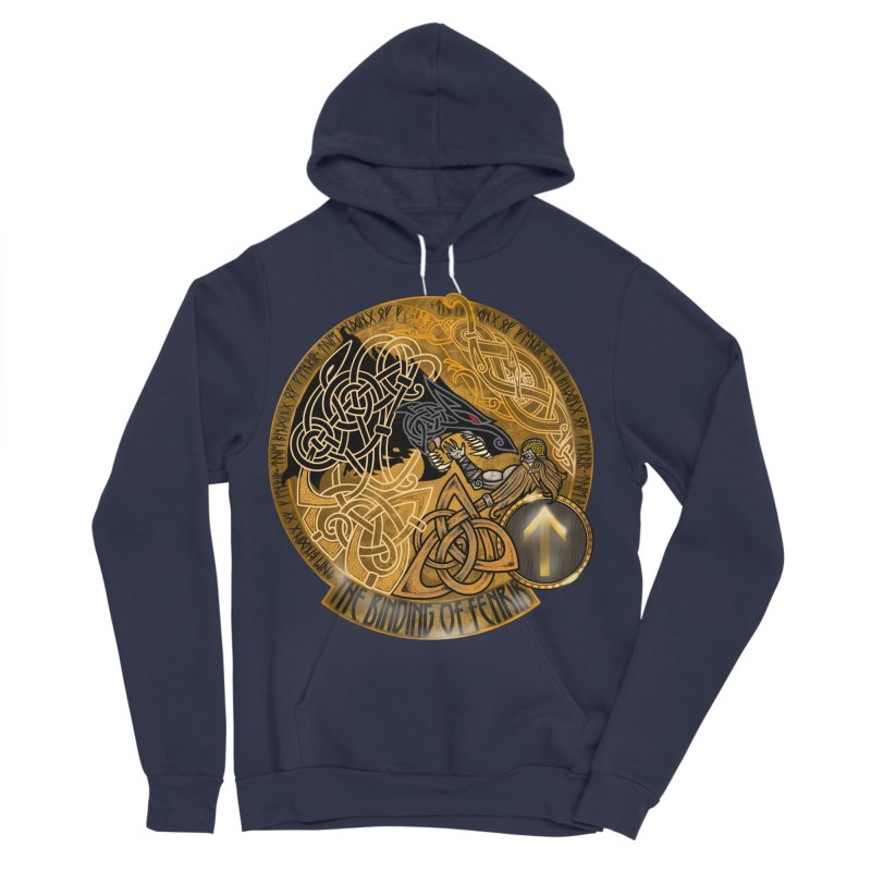 The Binding of Fenrir Women's Sponge Fleece Pullover Hoody by Celtic Hammer Club