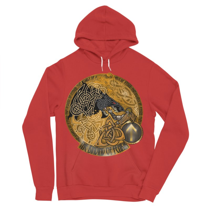 The Binding of Fenrir Men's Pullover Hoody by Celtic Hammer Club