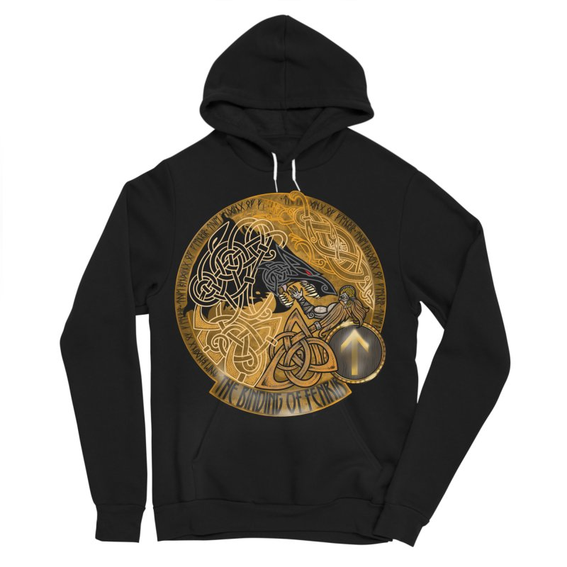 The Binding of Fenrir Men's Sponge Fleece Pullover Hoody by Celtic Hammer Club