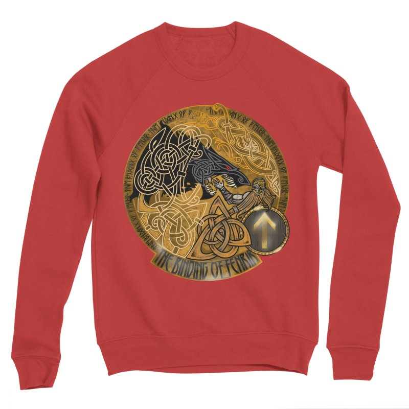 The Binding of Fenrir Women's Sponge Fleece Sweatshirt by Celtic Hammer Club