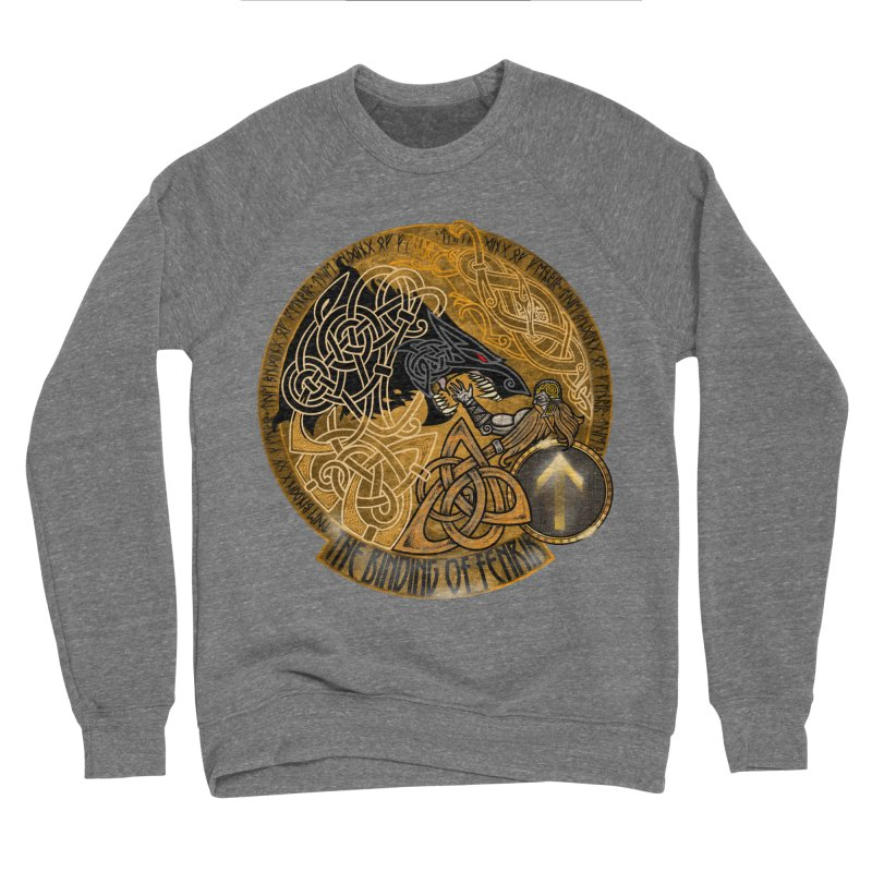 The Binding of Fenrir Men's Sponge Fleece Sweatshirt by Celtic Hammer Club