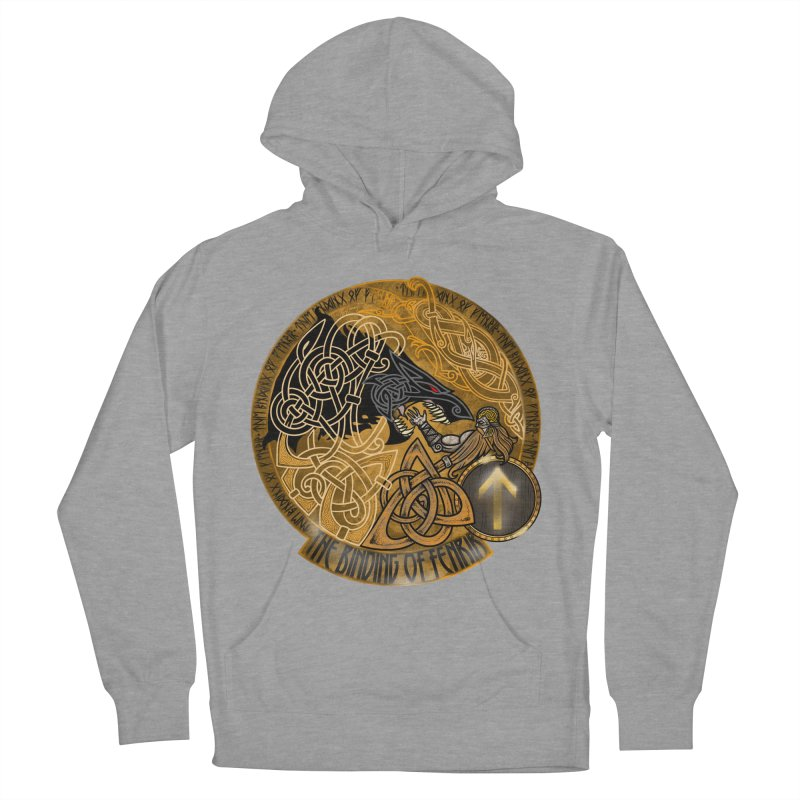 The Binding of Fenrir Women's French Terry Pullover Hoody by Celtic Hammer Club