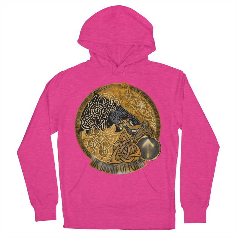 The Binding of Fenrir Men's French Terry Pullover Hoody by Celtic Hammer Club