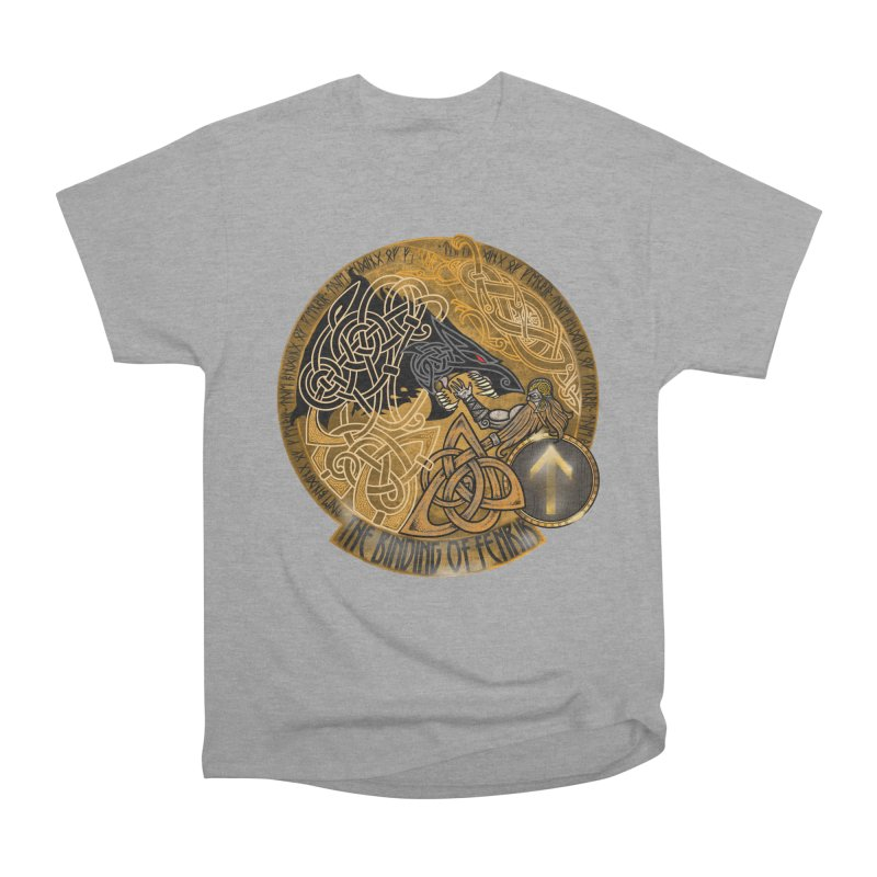 The Binding of Fenrir Women's Heavyweight Unisex T-Shirt by Celtic Hammer Club