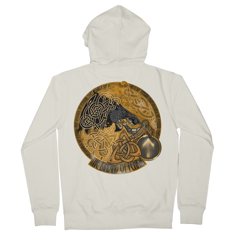 The Binding of Fenrir Women's French Terry Zip-Up Hoody by Celtic Hammer Club
