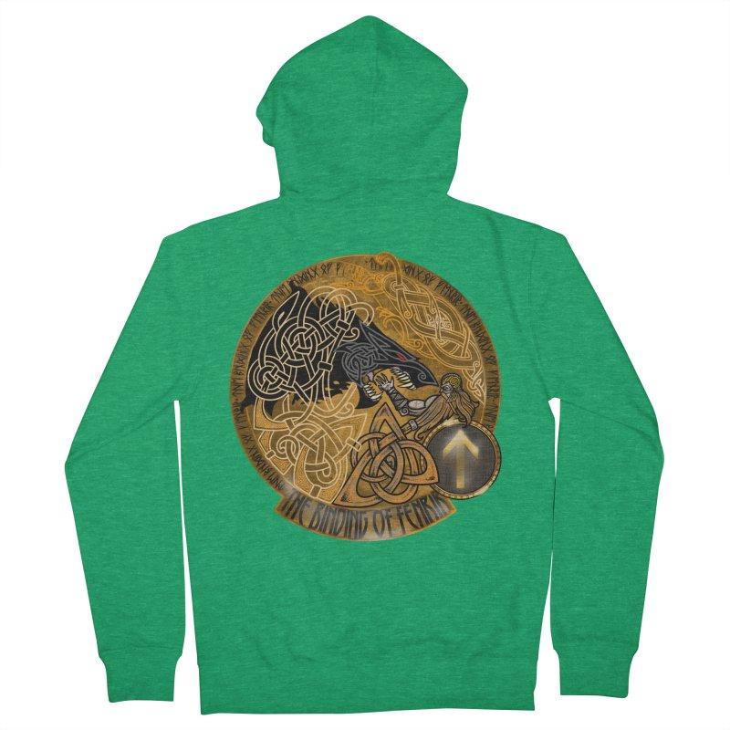 The Binding of Fenrir Men's Zip-Up Hoody by Celtic Hammer Club