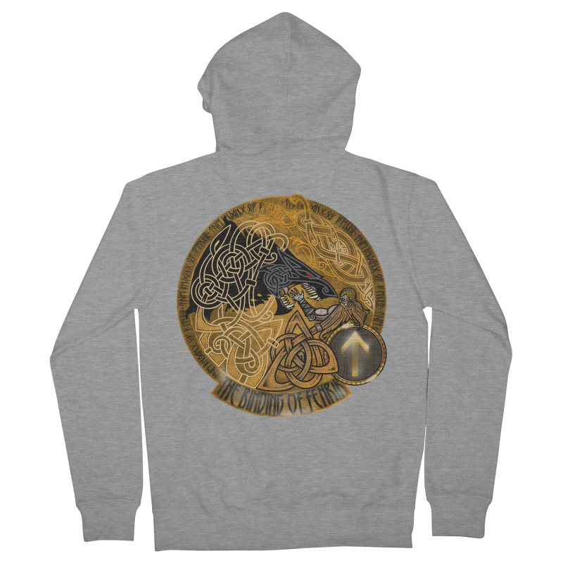 The Binding of Fenrir Men's French Terry Zip-Up Hoody by Celtic Hammer Club