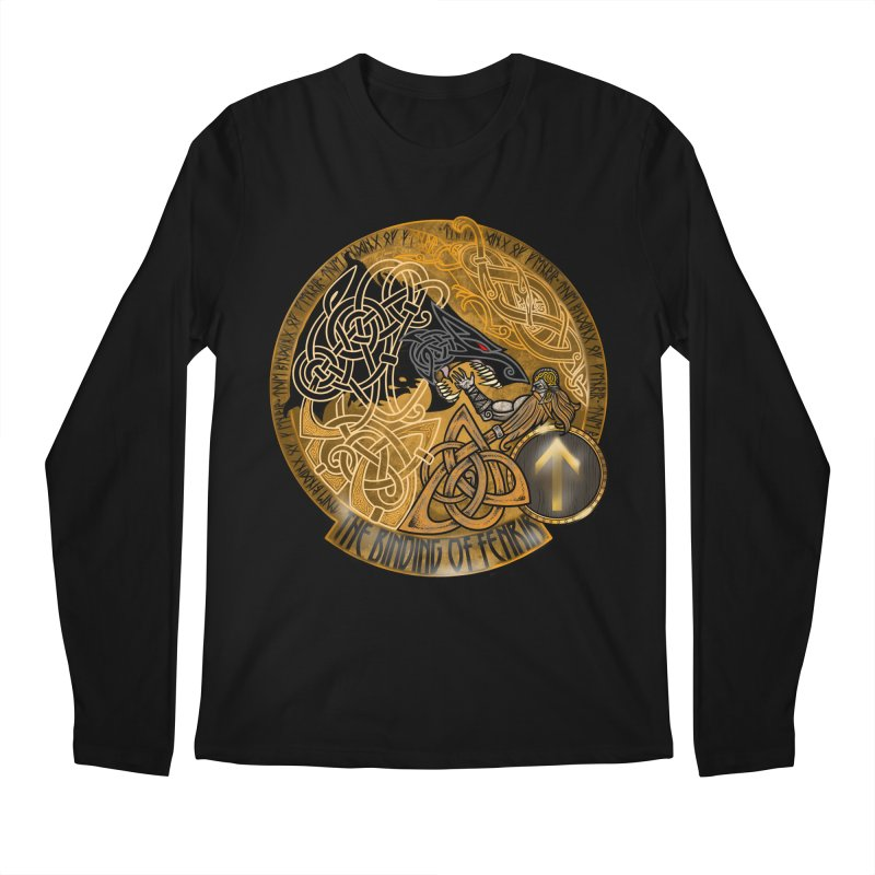 The Binding of Fenrir Men's Regular Longsleeve T-Shirt by Celtic Hammer Club
