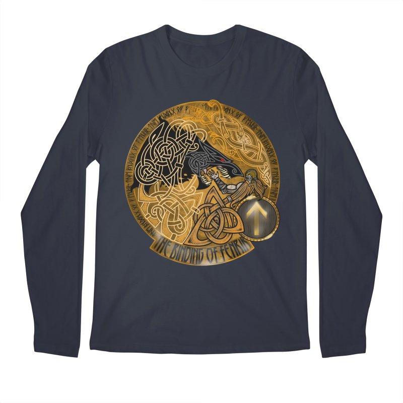 The Binding of Fenrir Men's Regular Longsleeve T-Shirt by Celtic Hammer Club