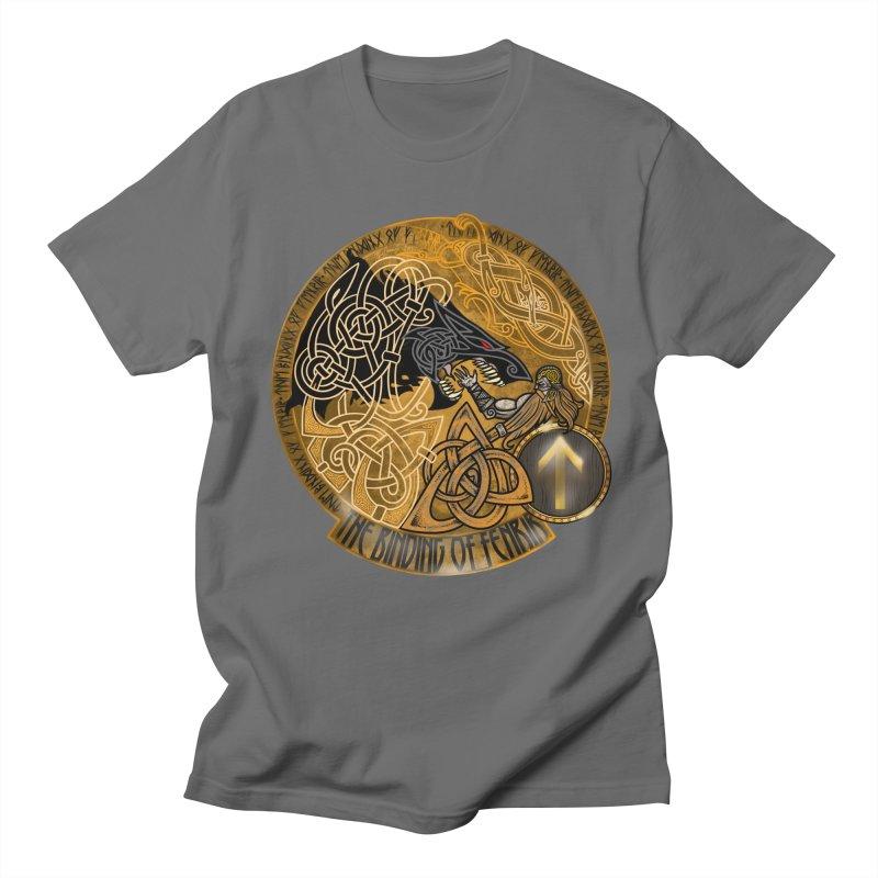 The Binding of Fenrir Men's Regular T-Shirt by Celtic Hammer Club