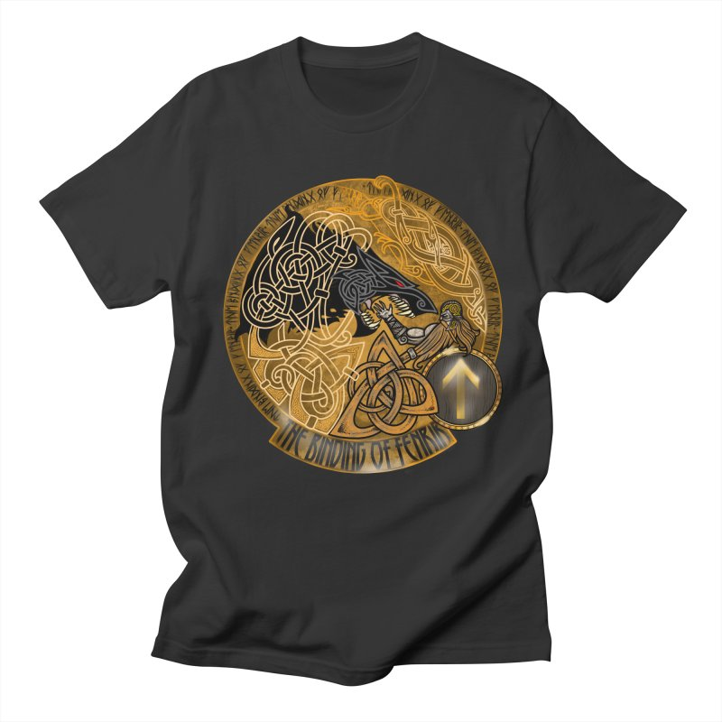 The Binding of Fenrir Women's Regular Unisex T-Shirt by Celtic Hammer Club