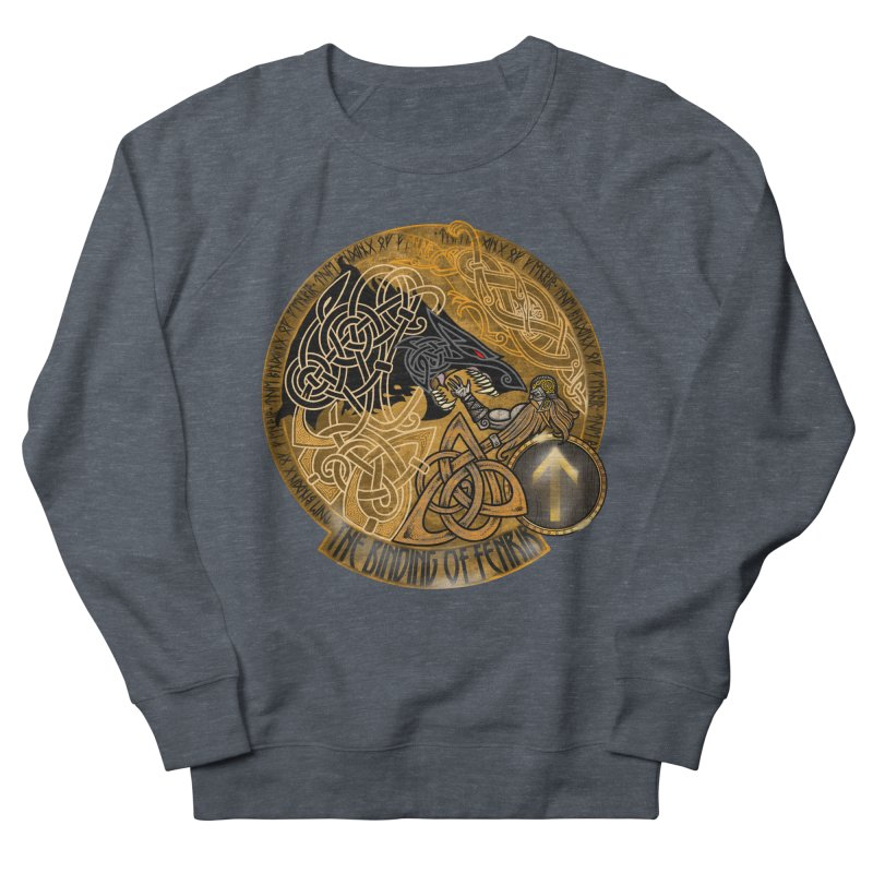 The Binding of Fenrir Women's French Terry Sweatshirt by Celtic Hammer Club