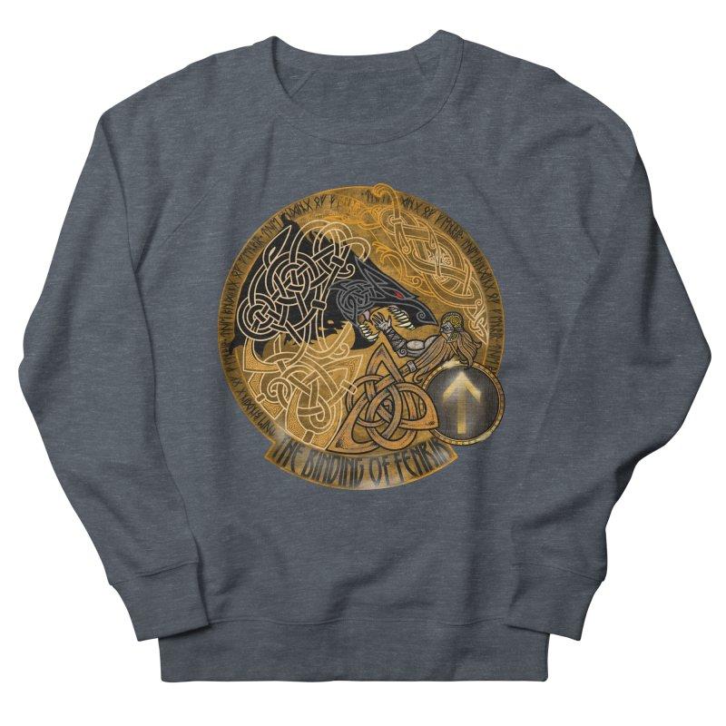 The Binding of Fenrir Men's French Terry Sweatshirt by Celtic Hammer Club