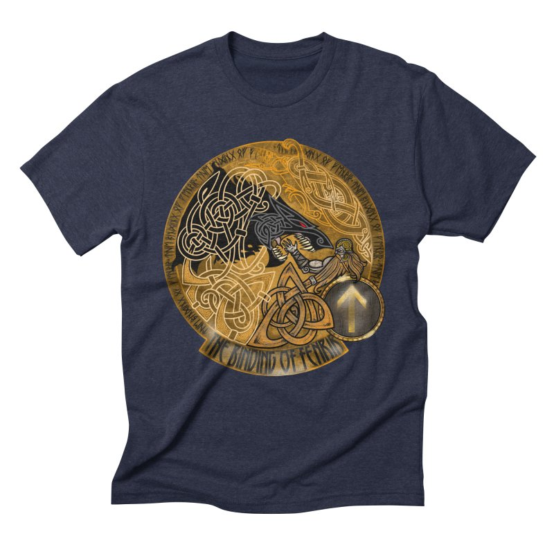 The Binding of Fenrir Men's Triblend T-Shirt by Celtic Hammer Club