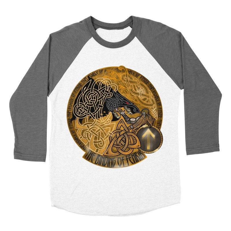 The Binding of Fenrir Women's Baseball Triblend Longsleeve T-Shirt by Celtic Hammer Club