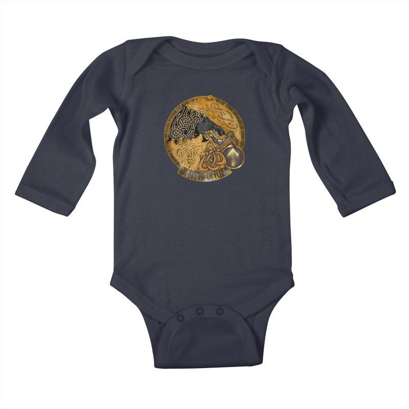 The Binding of Fenrir Kids Baby Longsleeve Bodysuit by Celtic Hammer Club