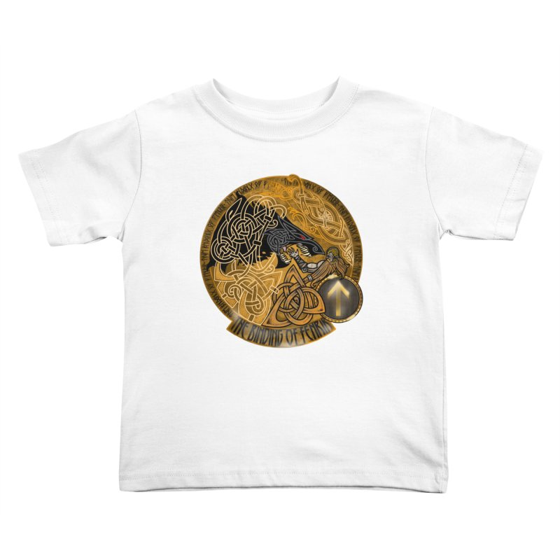 The Binding of Fenrir Kids Toddler T-Shirt by Celtic Hammer Club