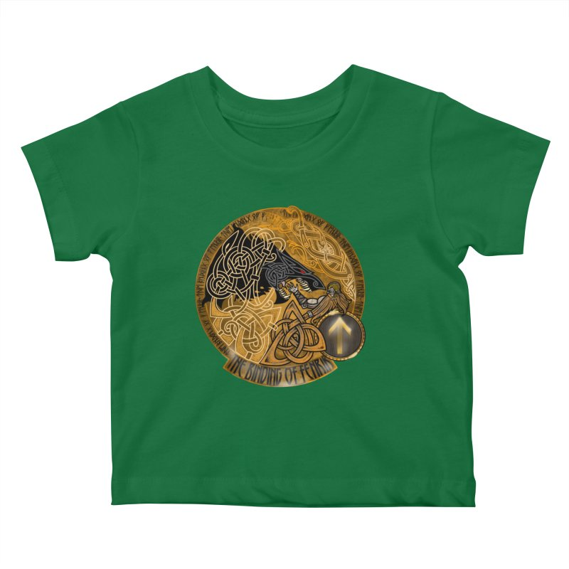 The Binding of Fenrir Kids Baby T-Shirt by Celtic Hammer Club