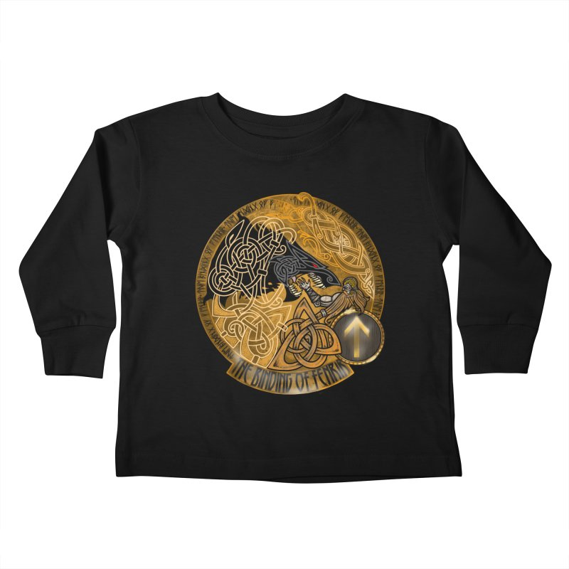 The Binding of Fenrir Kids Toddler Longsleeve T-Shirt by Celtic Hammer Club