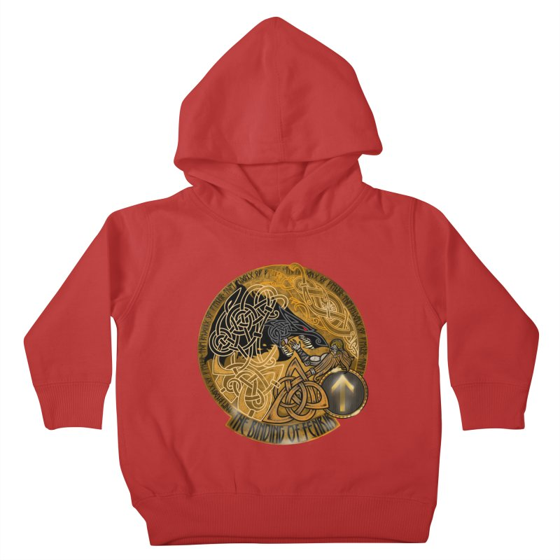The Binding of Fenrir Kids Toddler Pullover Hoody by Celtic Hammer Club