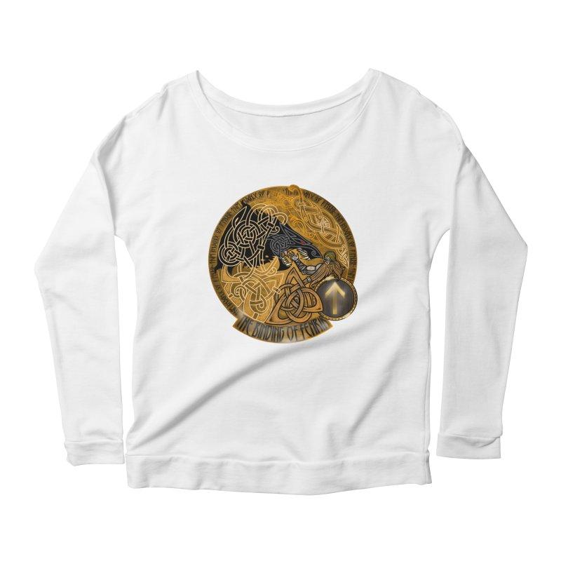 The Binding of Fenrir Women's Scoop Neck Longsleeve T-Shirt by Celtic Hammer Club