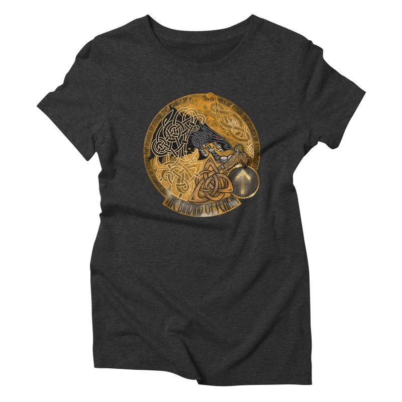 The Binding of Fenrir Women's Triblend T-Shirt by Celtic Hammer Club